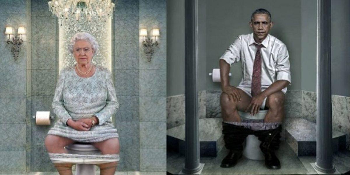 """Fotos: Líderes mundiales posan como nunca en su """"trono"""""""