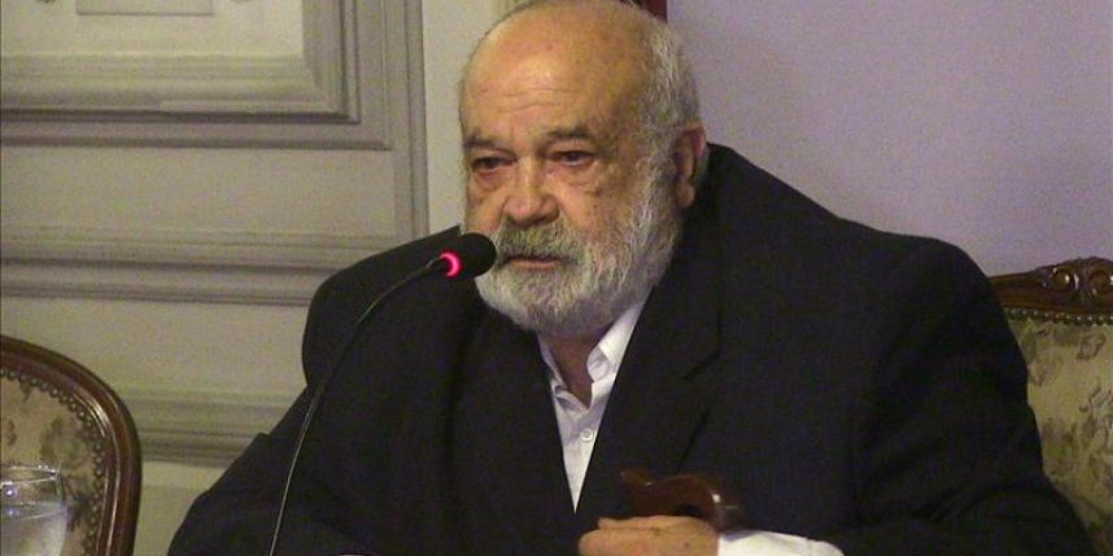 El ministro uruguayo de Defensa, Eleuterio Fernández Huidobro. EFE/Archivo