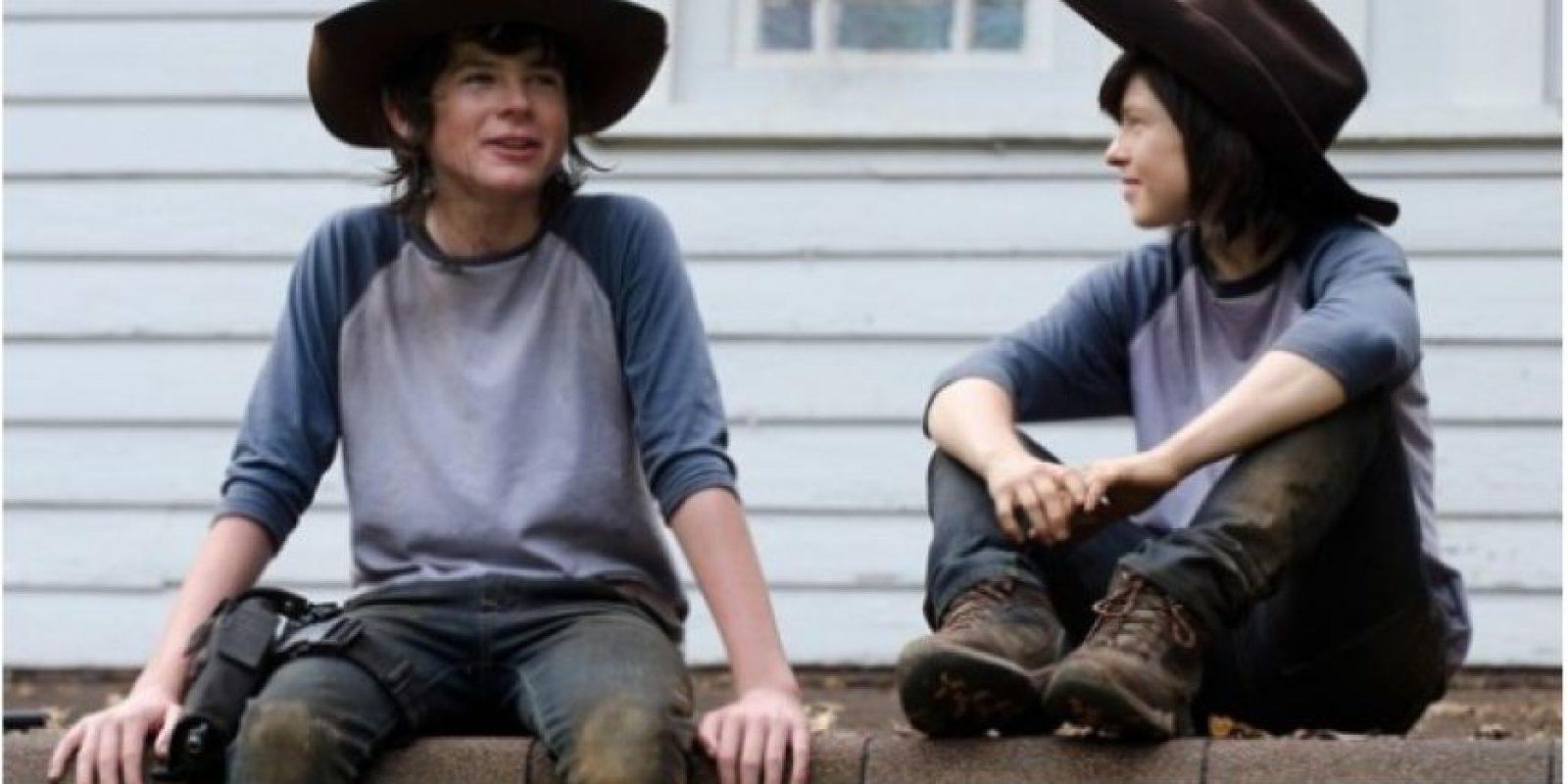 Chandler Riggs de 14 años, quien trabaja en la serie The Walking Dead tiene un doble de 29 años.