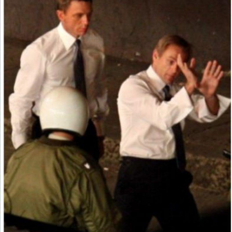 Daniel Craig y su doble de acción.
