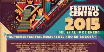 Festival Centro. Foto:Afiche oficial del evento
