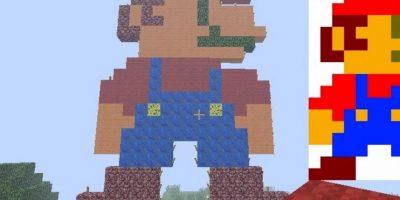 Mario Bros. Foto:Minecraft / Twitter
