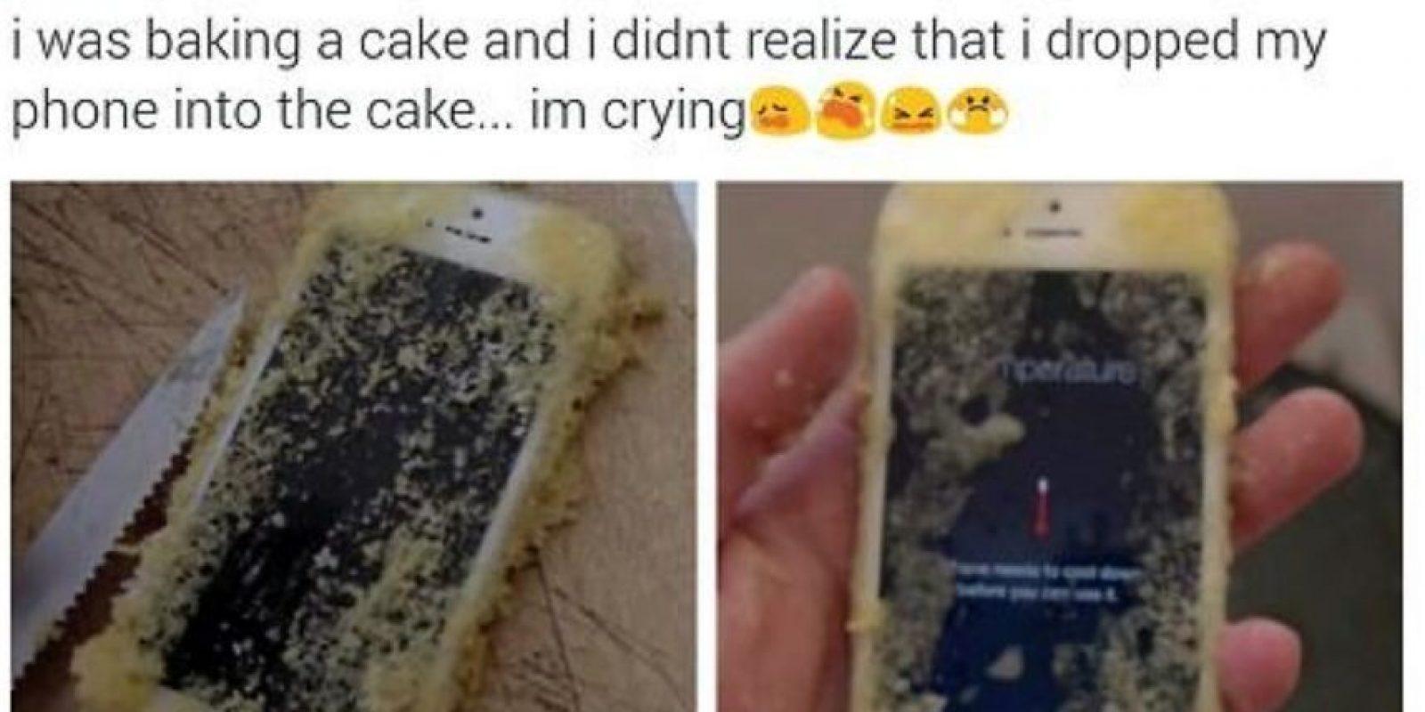 Un iPhone que jamás se recuperará. Foto:Twitter
