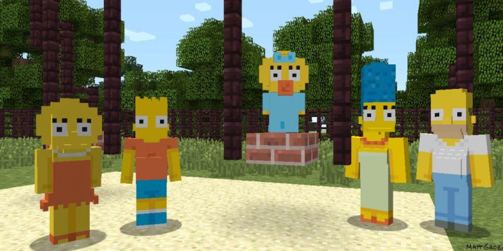 Los Simpson Foto:Minecraft / Xbox