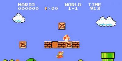 La primera versión de Super Mario Bros Foto:Nintendo