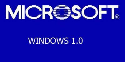 La primera edición de Windows (1.0) Foto:Microsoft