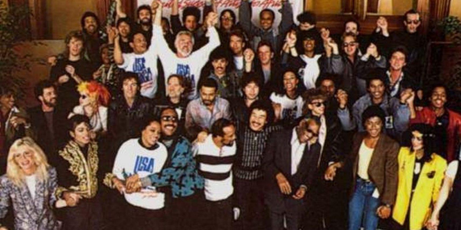 """El estreno de la canción """"We Are The World"""" Foto:taringa.net"""