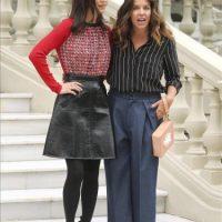 """La actriz neoyorquina Jennifer Connelly (i), ganadora de un Oscar por su papel de atípica esposa en """"Una mente maravillosa"""" (2001), que se atreve ahora a desmitificar la maternidad en """"No llores, vuela"""", tercer largometraje de la peruana Claudia Llosa (d), durante la presentación de la cinta hoy en Madrid. EFE"""