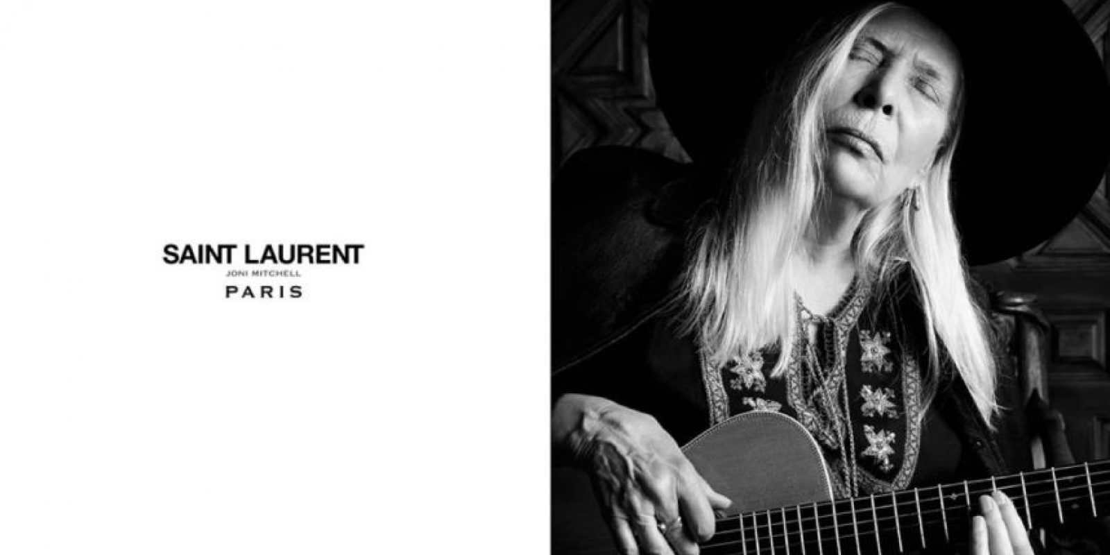 Joni Mitchell hace lo suyo para Yves Saint Laurent Foto:YSL