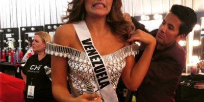 Parece que los nervios traicionaron a Miss Venezuela, quien se quedó sin palabras para las redes sociales. Foto:Twitter/Miss Universo