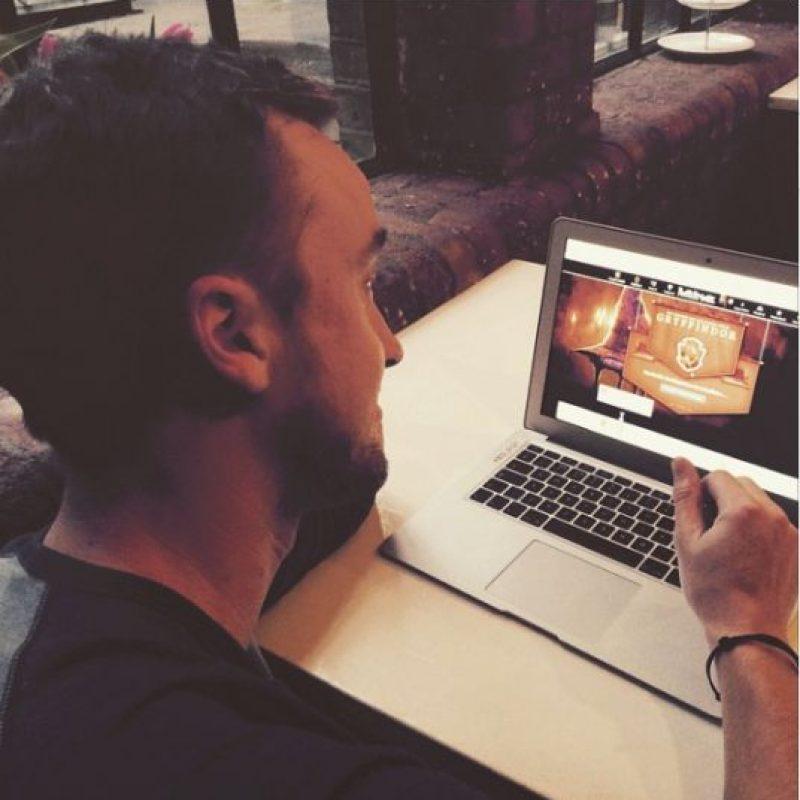 """En días pasados, Tom Felton se inscribió al sitio para fans de """"Harry Potter"""", """"Pottermore"""", y descubrió que su casa es """"Gryffindor"""" y no """"Slytherin"""" como en la película. Foto:Instagram/Tom Felton"""