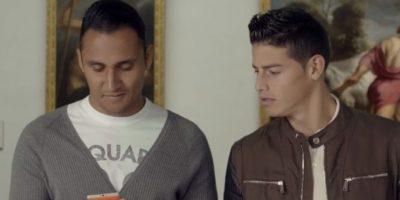 Keylor Navas y James Rodríguez estaban en un museo. Foto:TURISMOMADRID