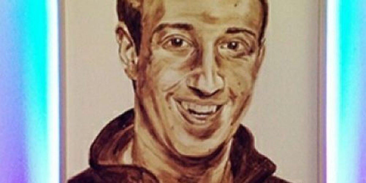 FOTOS: WTF! El retrato de Mark Zuckerberg hecho con heces fecales