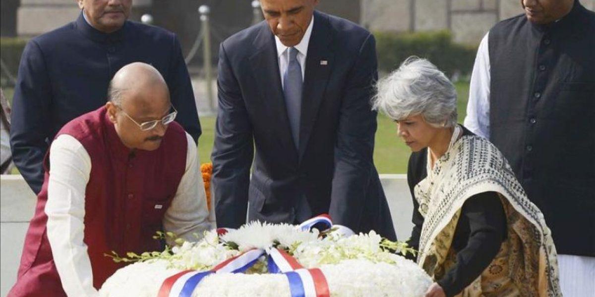 Obama homenajea en la India al padre de la lucha no violenta