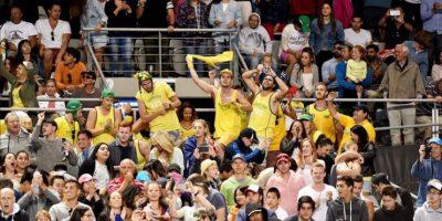 Aficionados australianos animando a Nick Kyrgios. EFE