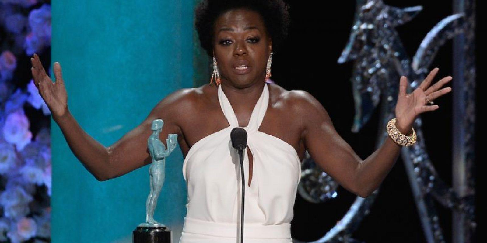 "Viola Davis ganó como Mejor actriz en serie de drama por ""How To Get Away With Murder"". Foto:Getty Images"