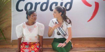 La anterior reina de belleza, Gabriela Isler, dedicó su reinado a crear conciencia y recaudar fondos para las regiones afectadas por el tifón Haiyan en Filipinas. Foto:Miss Universe
