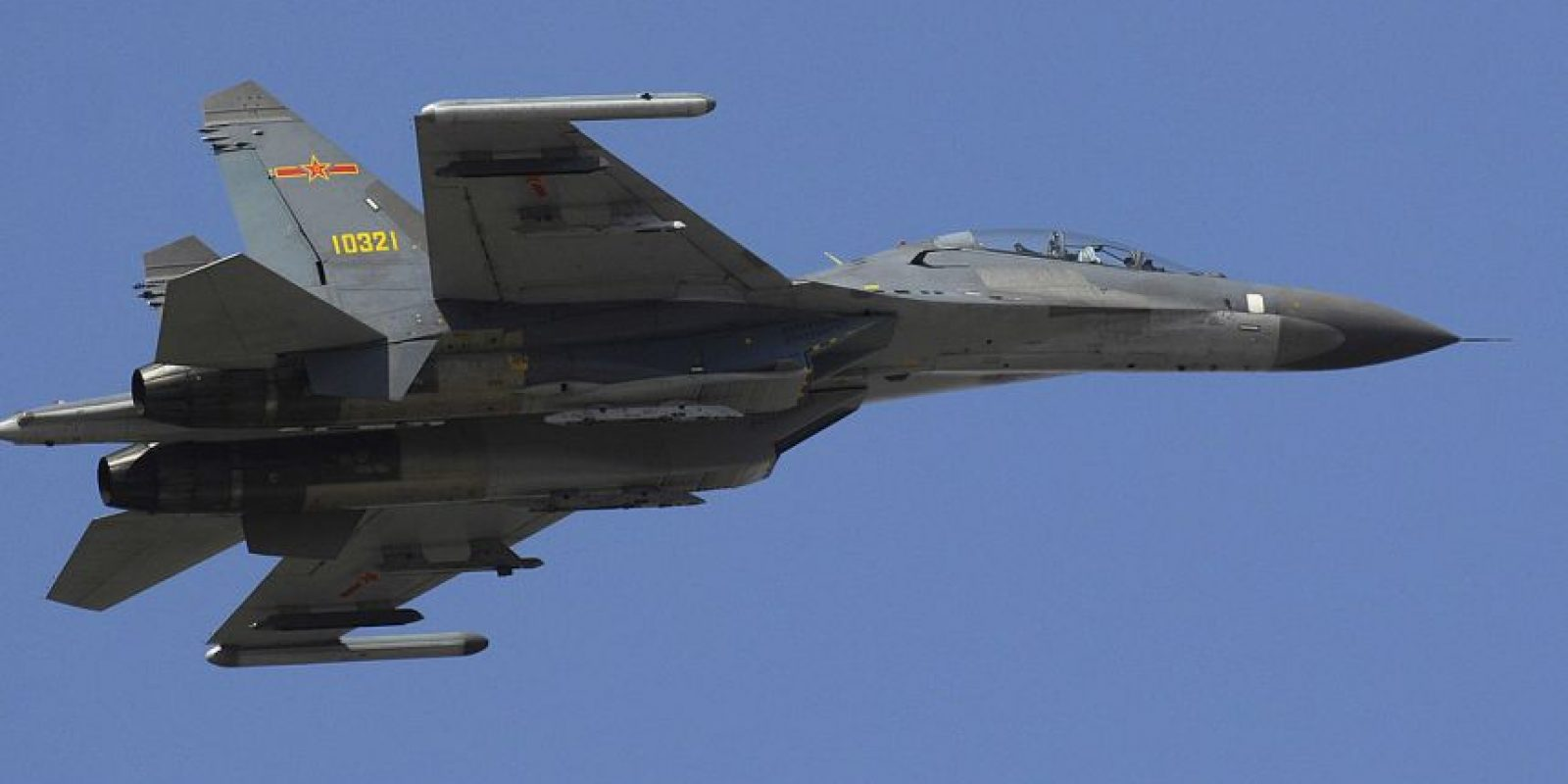 5. Shenyang J-11. Velocidad máxima de Mach 2,35 (2.878,9 km/h) Foto:Wikimedia