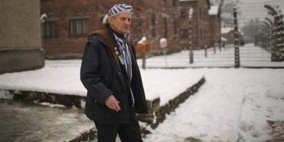 Igor Malicky, de 90 años, regresa al campo de concentración de Auschwitz Foto:Getty Images