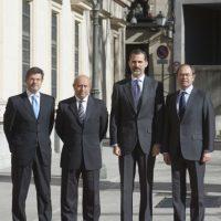 España: En la sede del Senado, se llevó a cabo una ceremonia con la participación del Rey Felipe VI Foto:Getty Images