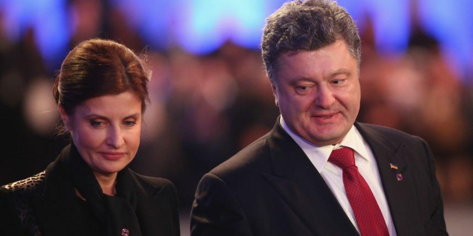 Petro Poroshenko, presidente de Ucrania, en la ceremonia oficial en Auschwitz Foto:Getty Images