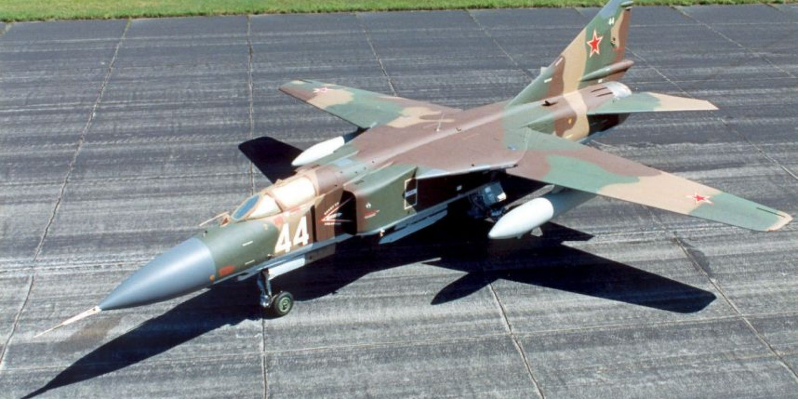6. MiG-23 Flogger. Velocidad máxima de Mach 2,35 (2.878,9 km/h) Foto:Wikimedia