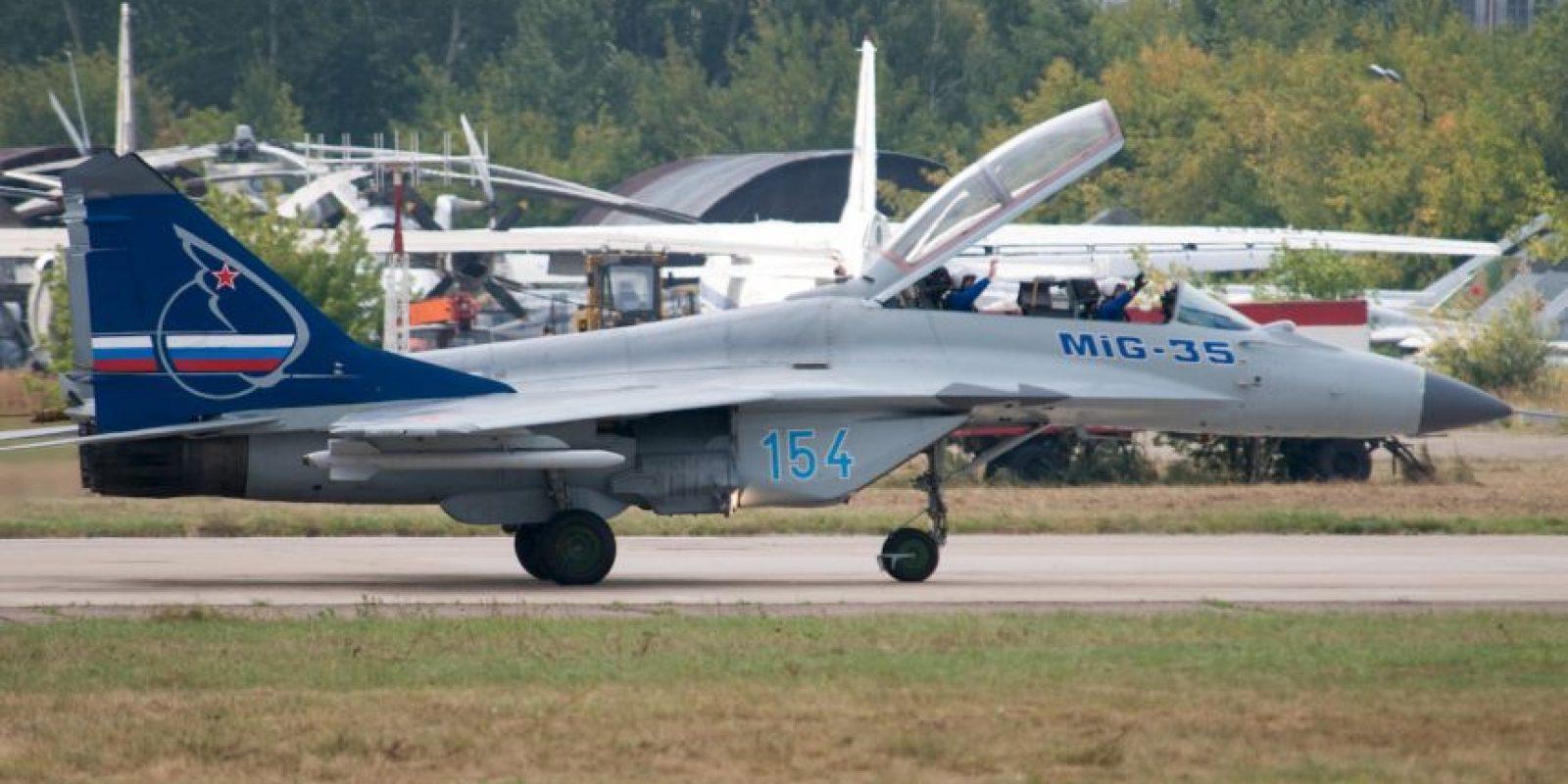 8. MiG-35 Fulcrum-F. Velocidad máxima de Mach 2,25 (2.756,3 km/h) Foto:Wikimedia