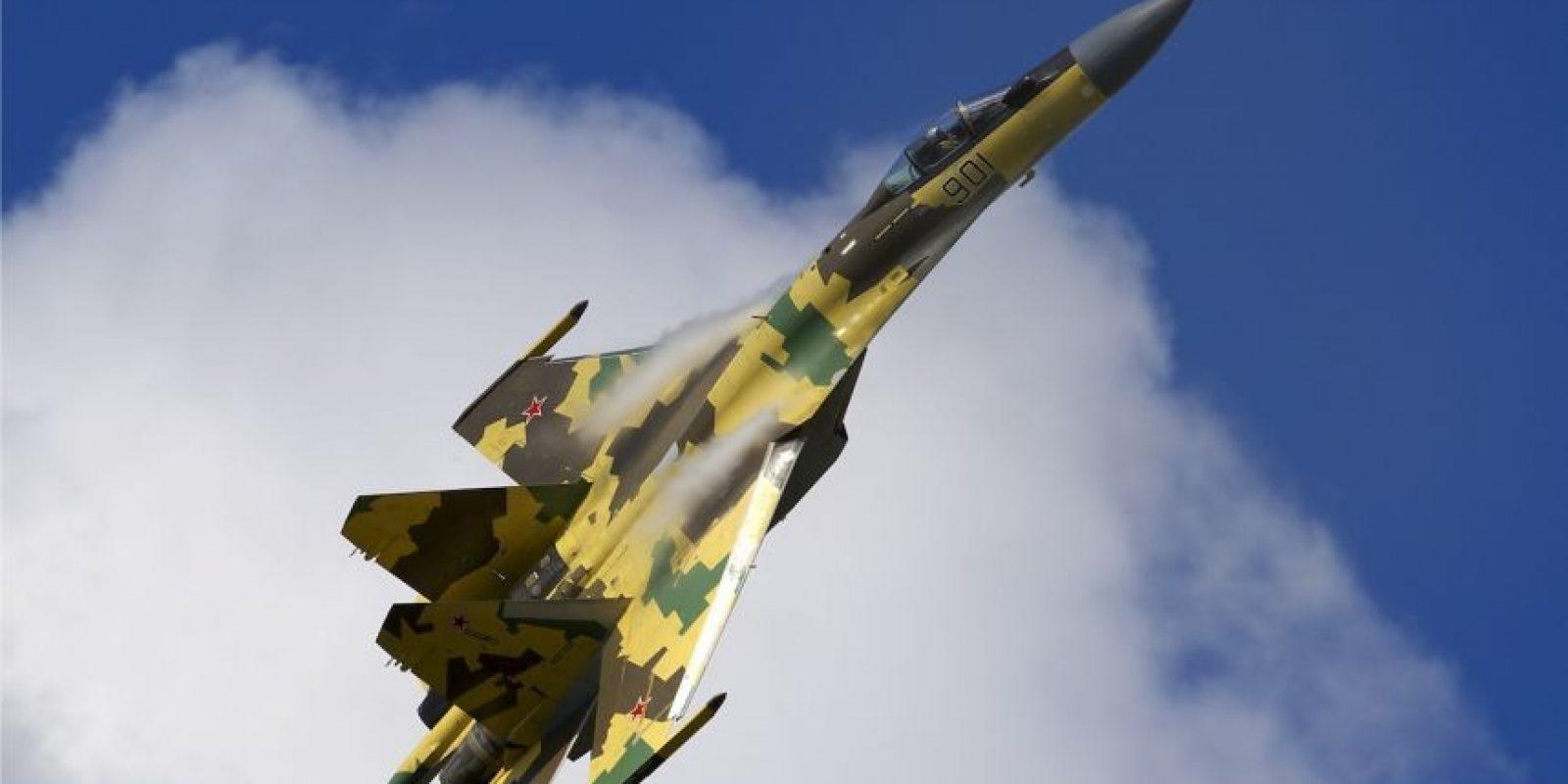 10. Sukhoi Su-35 Flanker-E. Velocidad máxima de Mach 2,25 (2.756,3 km/h) Foto:Wikimedia