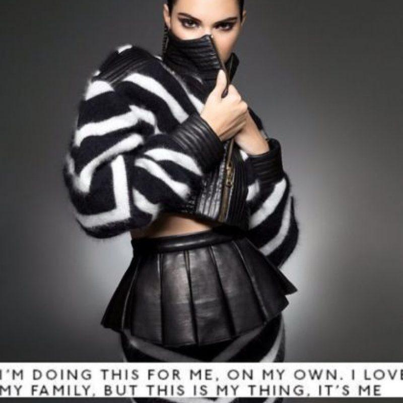 Quizás ella no esté de acuerdo. Siempre ha dicho que todo lo ha conseguido por sus propios méritos. Foto:Instagram/Kendall Jenner