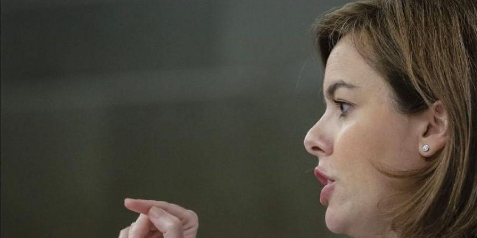La vicepresidenta del Gobierno, Soraya Sáenz de Santamaría. EFE/Archivo