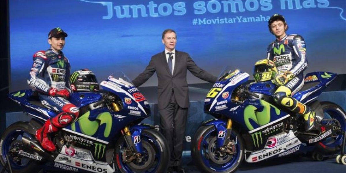 Rossi y Lorenzo, estrellas de la presentación del equipo Yamaha