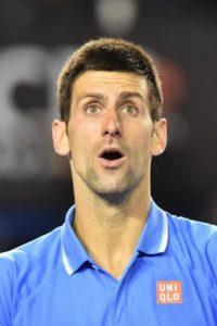La cara de sorpresa de Nole Foto:Getty