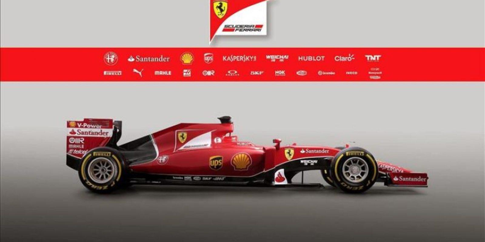 Fotografía facilitada por Ferrari que muestra el nuevo monoplaza del equipo para la temporada 2015. El SF15-T fue presentado en Maranello (Italia) hoy, viernes 30 de enero de 2015. EFE