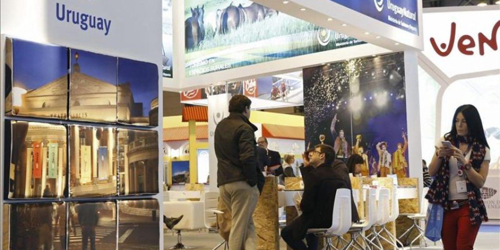 Vista del estand de Uruguay instalado en la Feria Internacional de Turismo (Fitur) que permanecerá abierto al público hasta el domingo día 1 de febrero. EFE