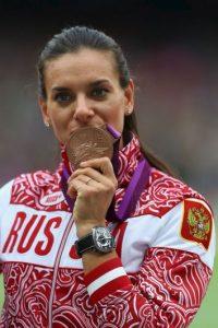 Yelena Isinbayeba – Rusia. Medalla de oro en Atenas 2004 y Beijing 2008, bronce en Londres 2012. Foto:Getty Images