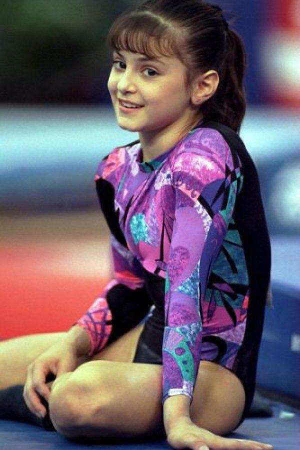 Dominique Moceanu – medalla de oro por equipos en gimnasia en Atlanta 1996. Foto:Getty Images