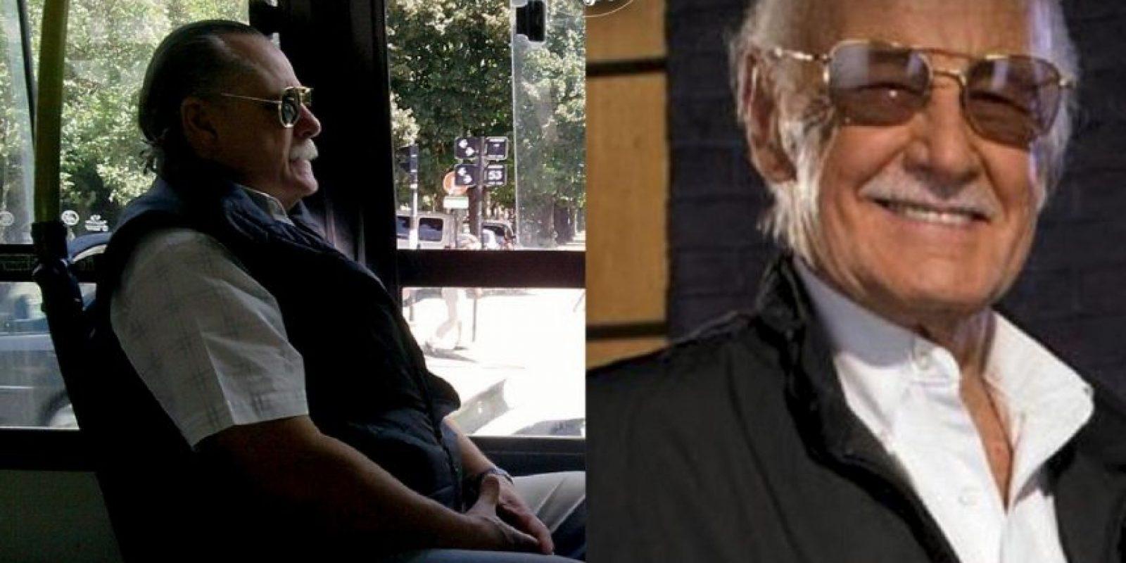 Stan Lee Foto:Parecidos De Bondis/Facebook