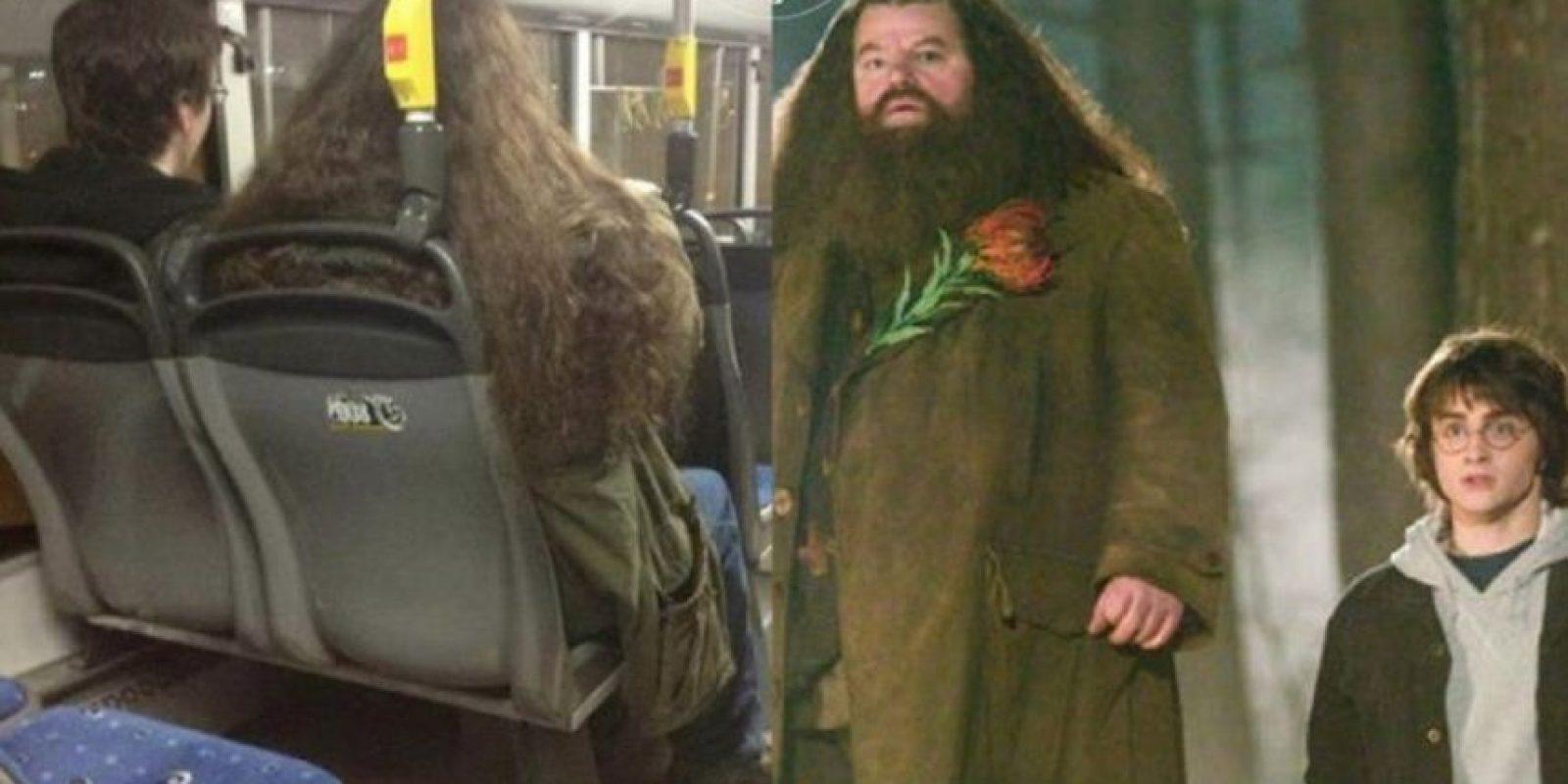 Harry Potter y Hagrid. Foto:Parecidos De Bondis/Facebook