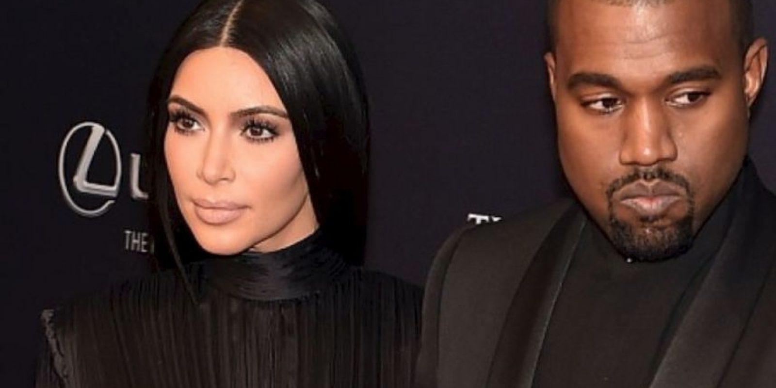 Ella y su marido Kanye West tampoco sonríen. Foto:Getty Images