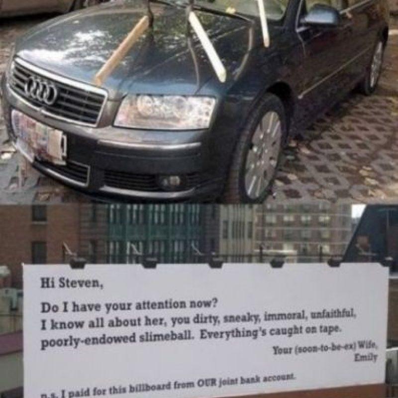 La que le hace esto al auto. Foto:Facebook