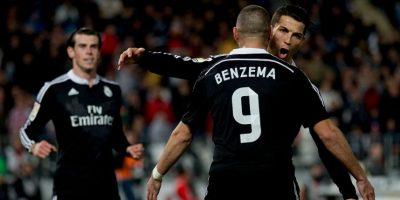 Así festejan en la cancha Benzema y CR7 Foto:Getty