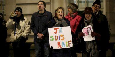 Muestras de apoyo al bloguero Raif Badawi en Londres Foto:AP