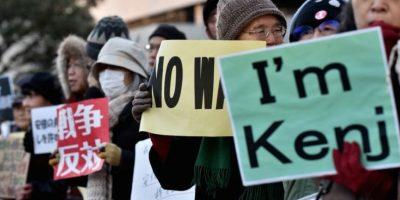 1 de febrero: Japoneses reaccionan ante la decapitación del japonés Kenji Goto por Estado Islámico Foto:AFP