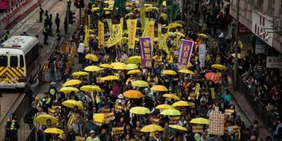 2 de febrero: Regresan las manifestaciones de la Umbrella Revolution en Hong Kong Foto:AFP