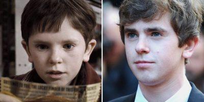 Freddie Highmore era Charlie Bucket: Tiene 22 años. Ha actuado en 'August Rush' (2007); 'The Spiderwick Chronicles' (2008); 'Finding Neverland' (2004) y actualmente protagoniza la serie 'Bates Motel' donde interpreta a Norman Bates.