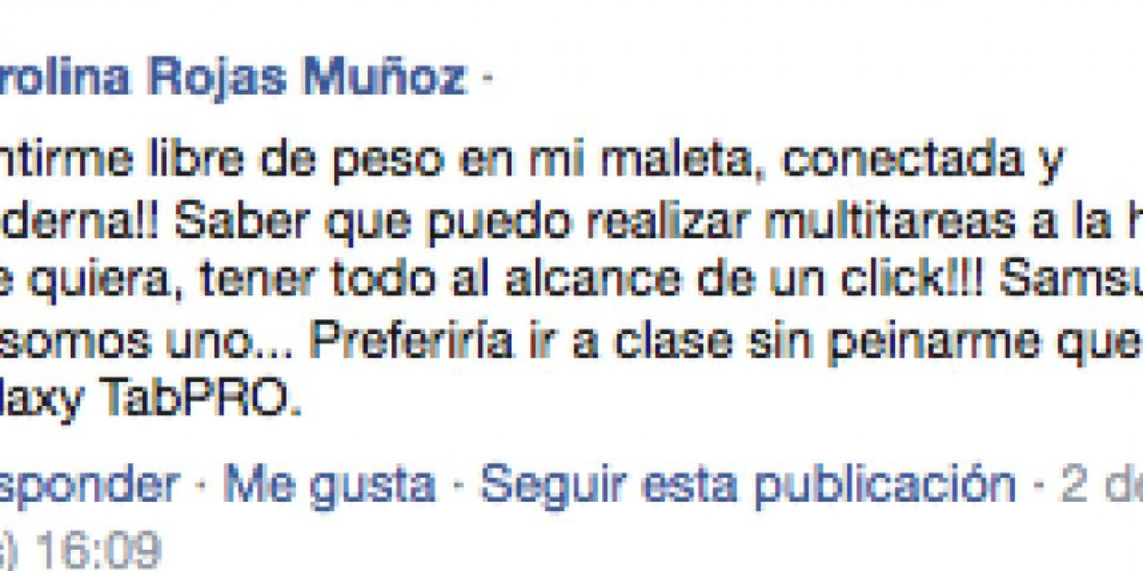 4) Carolina Rojas