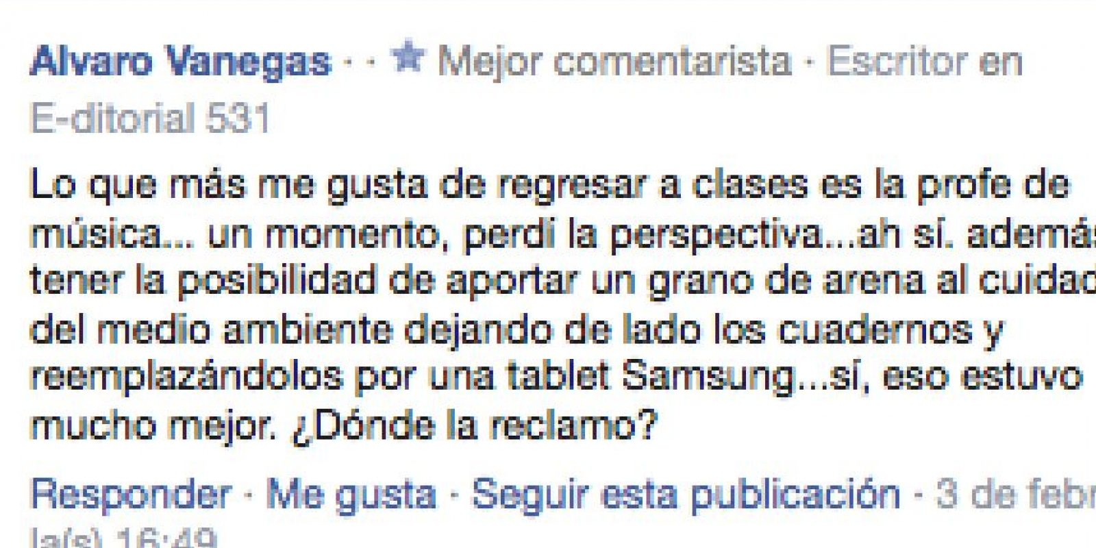 6) Alvaro Vanegas