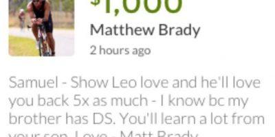 Sam ya ha recibido más de 440 mil dólares Foto:Go Fund Me