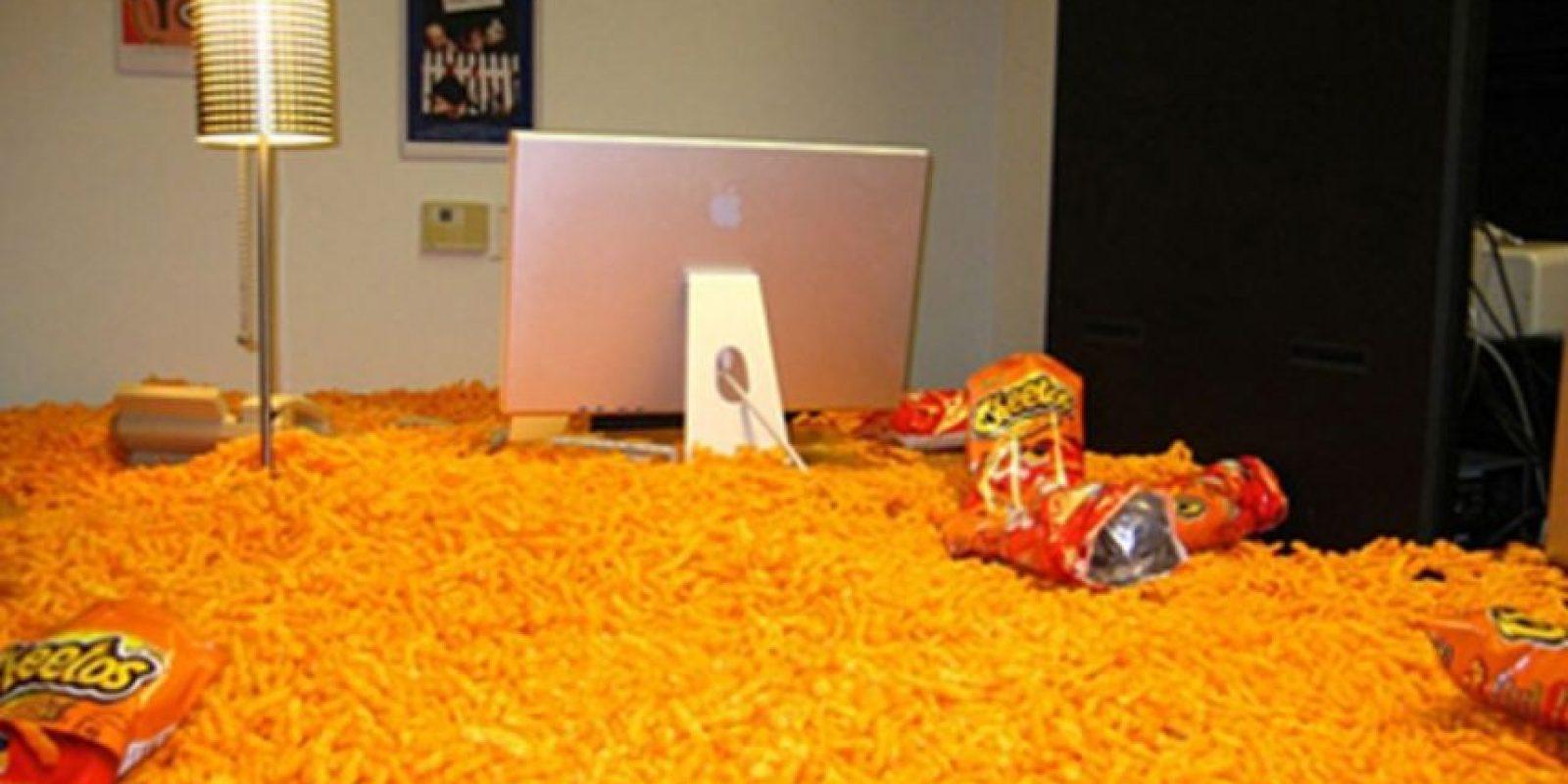 Los cheetos. Foto:Prankked