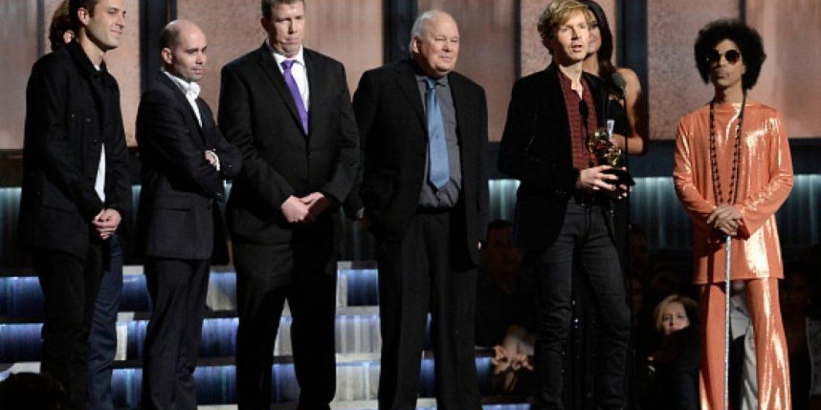 """""""Ha lanzado muchas grandes canciones en los últimos cinco años"""", afirmó Beck con toda humildad. Foto:Getty Images"""